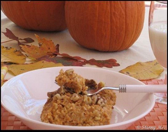 Pumpkin Custard Oatmeal. Great for Fall.