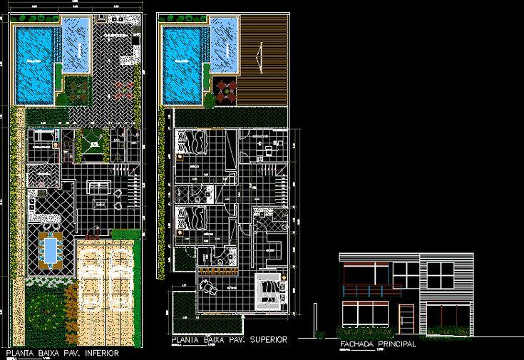 Projeto residencial unifamiliar (dwgDibujo de Autocad)