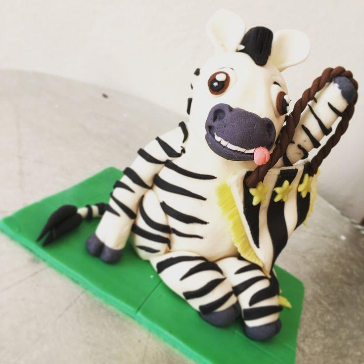 Zebra Juventus topper cake