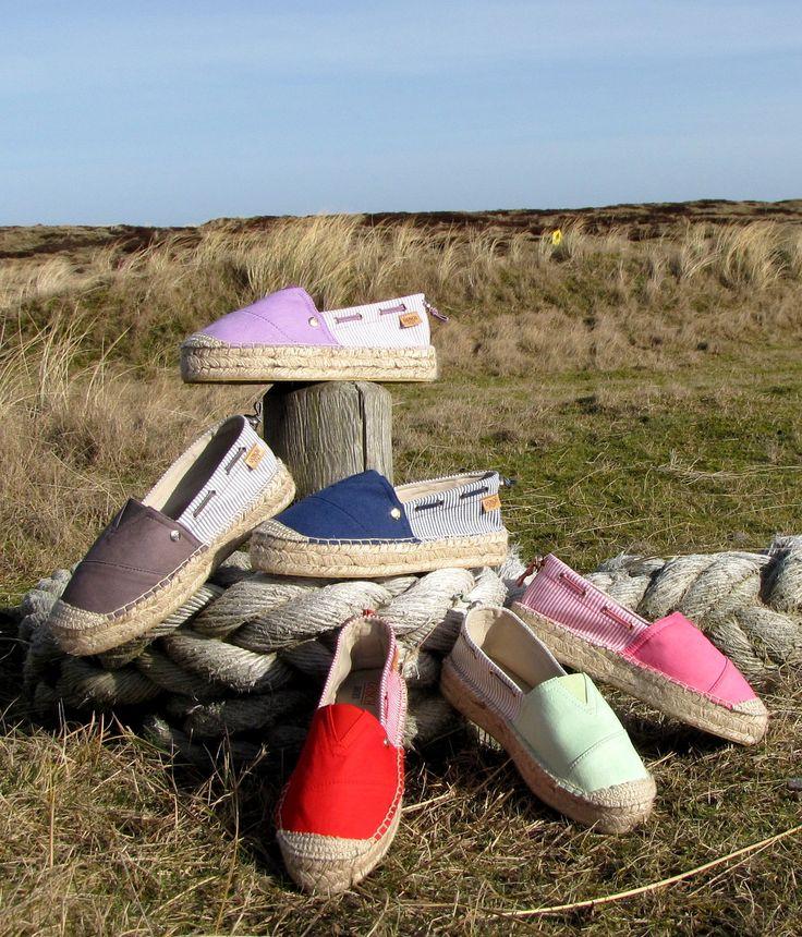Gosch Shoes Frühjahr/Sommer Kollektion. Espadrilles in frischen Farben. #espadrille #gosch #sylt #frühjahr #sommer