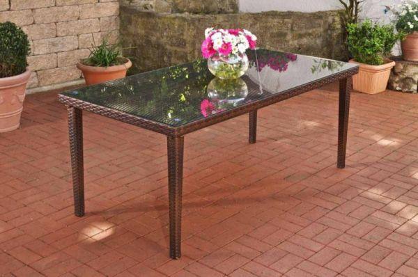 Tisch Bondy Florenz Braun Meliert Gartentisch Polyrattan Tisch Tisch