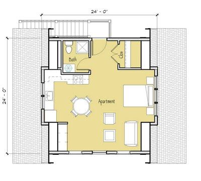 Simply elegant home designs blog new garage apartment for Garage studio apartment plans