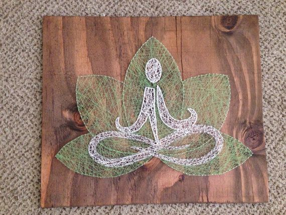 Yoga string art by nidification on Etsy, $60.00