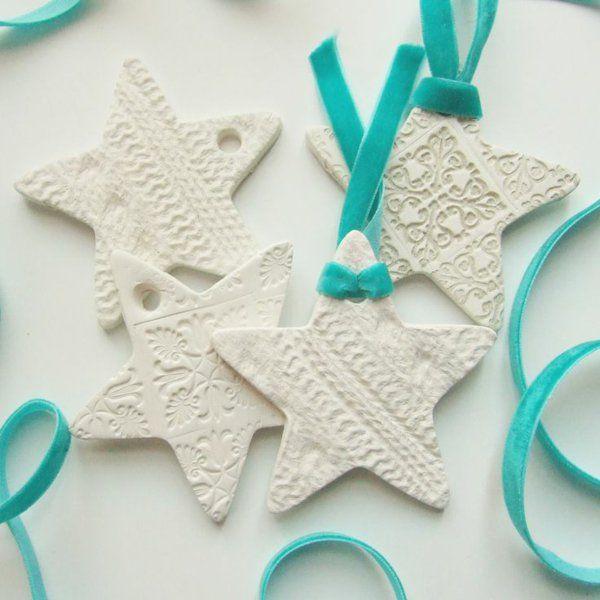 Weihnachtssterne basteln vorlagen kinder weiß türkis
