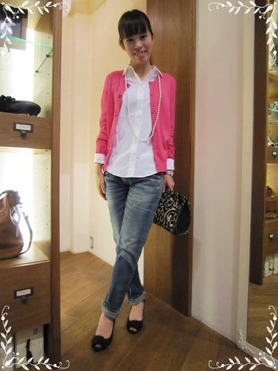 2015年春夏♪着るだけで気分アガるピンクカーディガンのコーデ|マシマロ