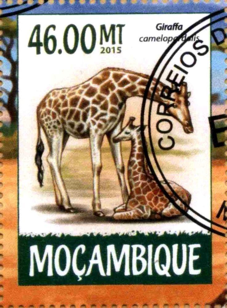 Stamp: Giraffa camelopardalis (Mozambique) Col:MZ 2015-03/4