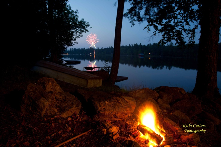 Unexpected fireworks, Hall's Lake Vt.