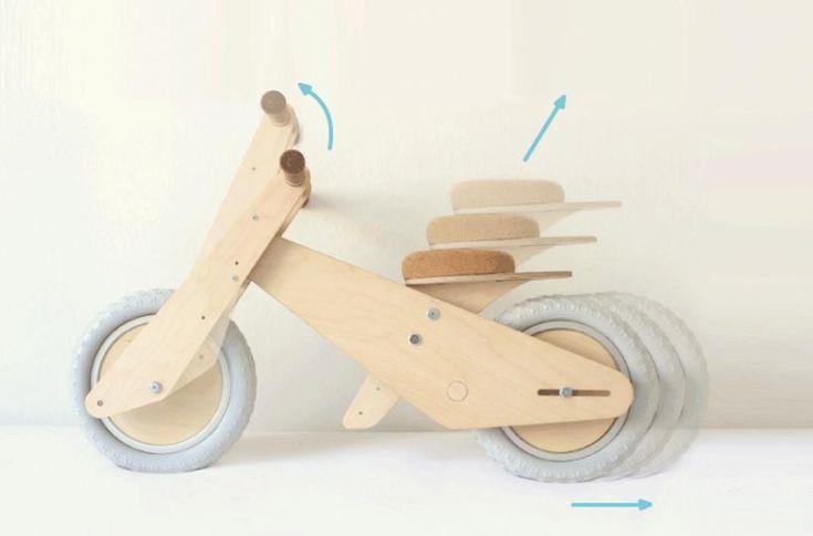 B'kid – деревянный детский велосипед, растущий вместе с ребенком
