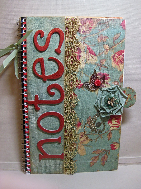 Altered Note Book Perfect for Mothers Day by SapphireNoteables