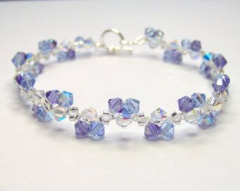 Beautiful Items Similar To Blue Sky Blue Bracelet, Swarovski Bracelet, Blue Bracelet,  Bicone Bracelet