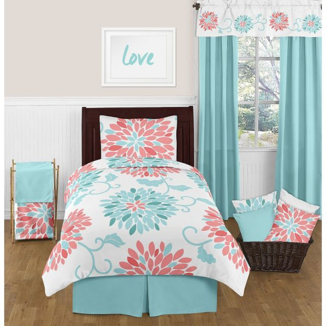 product image for Sweet Jojo Designs Emma Comforter Set in White/Turquoise