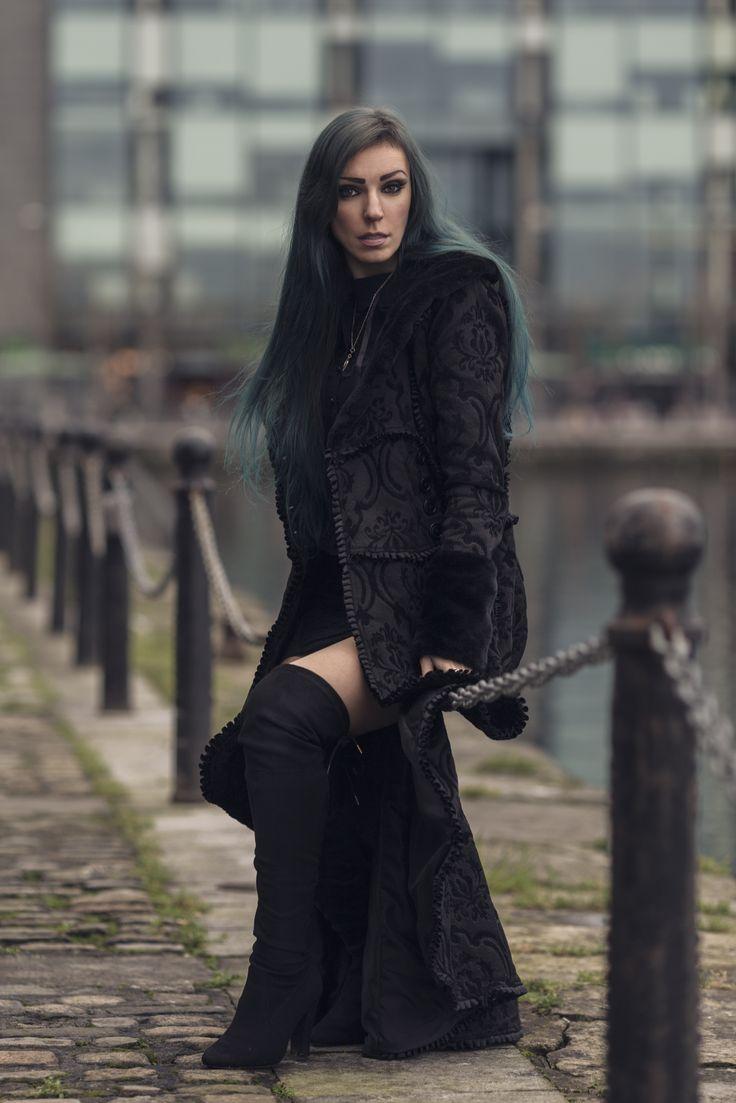 Model: Persephone Model Coat: Draculaclothing #draculaclothing #persephonemodel #gothicgirl #evilqueencoat #gothicandamazing #gothicmodel #alternativemodel #dublin
