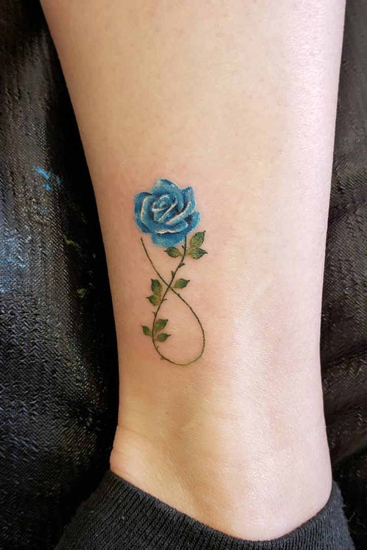 Ryoko Small Watercolor Wild Flower Rose Temporary Tattoo Flower Tattoo On Ankle Delicate Flower Tattoo Small Flower Tattoos