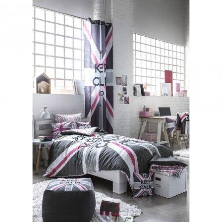 Deco chambre ado grise et rose london chambre fille for Amenagement chambre ado fille