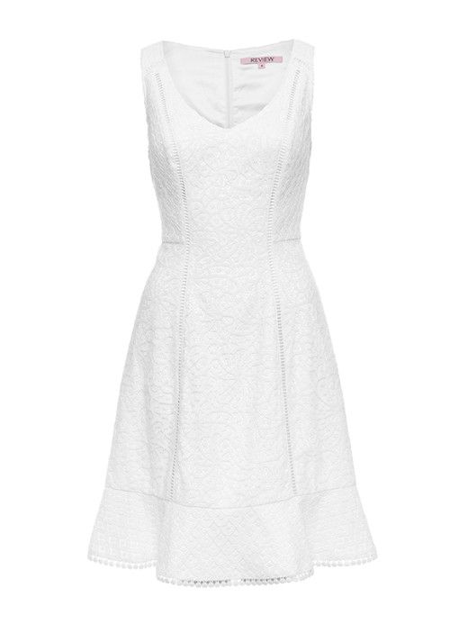 Katie Lace Dress in White