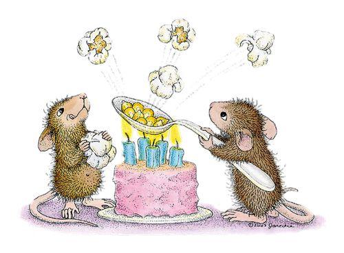 Открытка поздравление с мышкой