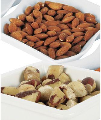 Los frutos secos son excelentes para comer en los dias ocupados por que no necesitan acompañante.