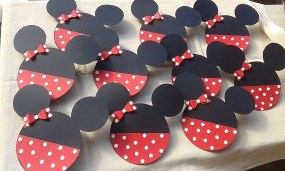 Minnie/Disney/Inviti/Partecipazioni/Primo compleanno/bambina/handmade di FrancyHappyShop