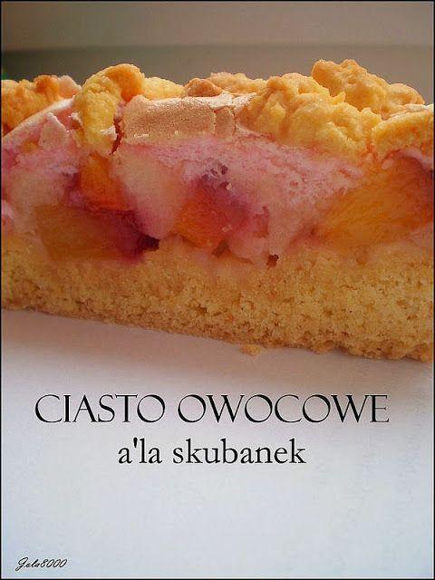 Ciasta, ciastka, ciasteczka.... Słodka chwila zapomnienia: Ciasto owocowe a'la skubanek