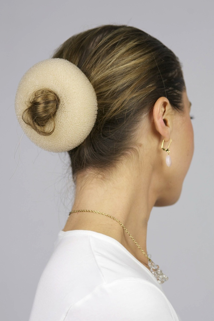 If you have thin or short hair you can try a hair donut under your headcovering to give the illusion of a bun. headscarf, head scarf, scarf, scarves, tichel, mitpachat, hat, cap, snood, bandana, hair cover, haircover, haircovering, head cover, headcover, headcovering, hijab, modest, modesty, tznius, tzniut