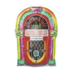 Rock-n-roll Jukebox mylar balloon