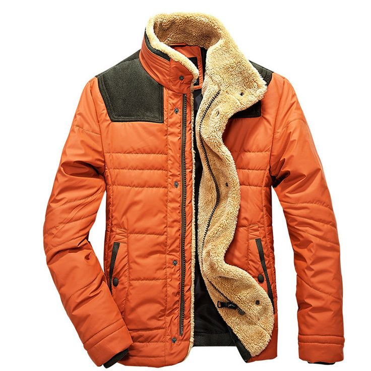Fashion Mens Warm winter Jacket Vintage Outerwear Hipster