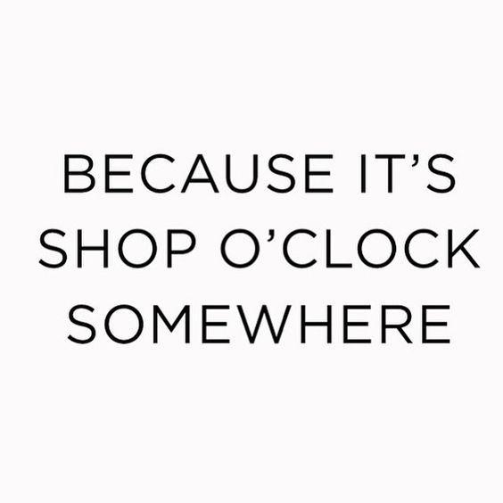 Because it's shop o'clock somewhere.