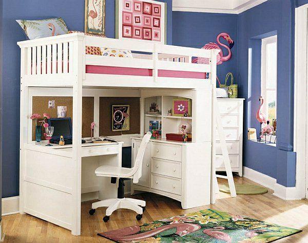 le lit mezzanine avec bureau est lameublement cratif pour les chambres denfant archzinefr - Etagenbetten Fr Teenager Jungen