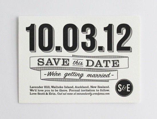 Save the Date en blanco y negro