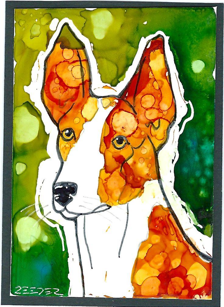 Artist Trading card by Lynn Reeder alcohol ink
