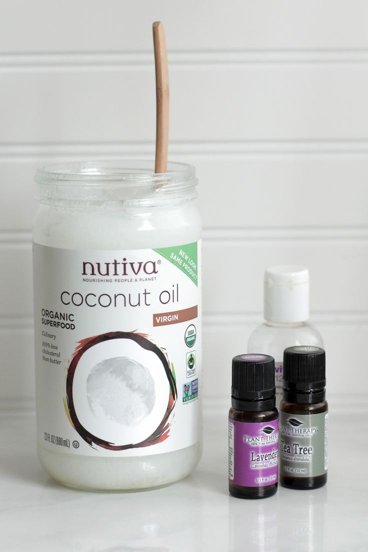 homemade moisturizer liquid vitamin e, coconut oil, tea tree oil, lavender oil.  yes!