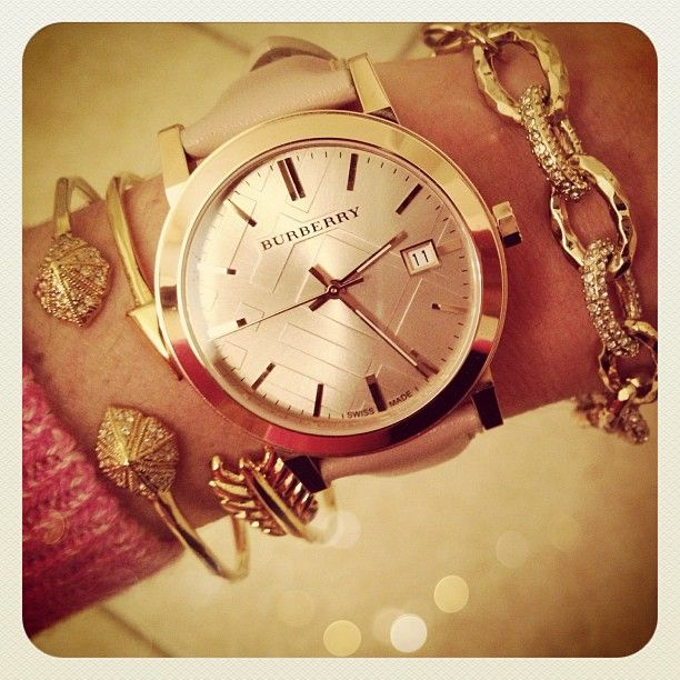 Burberry watch with stack
