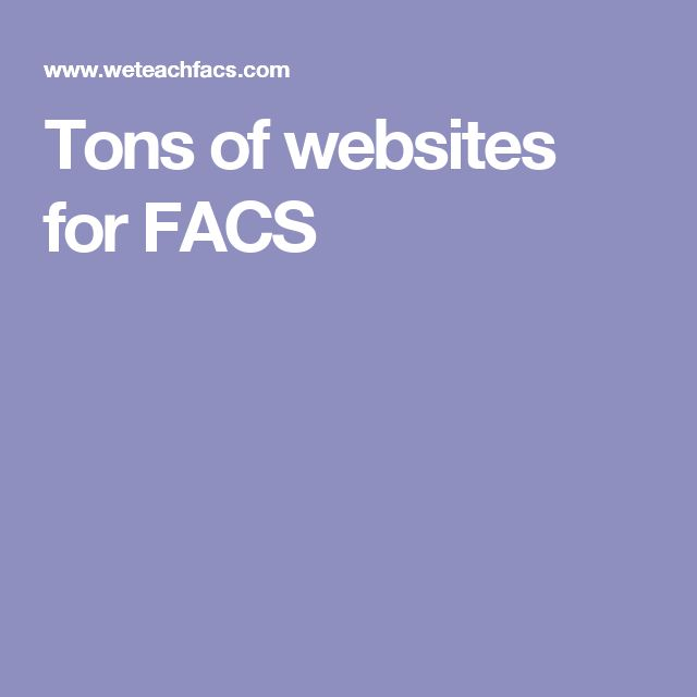 Tons of websites for FACS