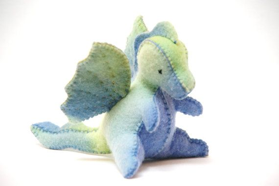 Felt Toy PDF Pattern  Baby Dragon by silvernutmegcreation on Etsy  Yay! a cute dragon one!