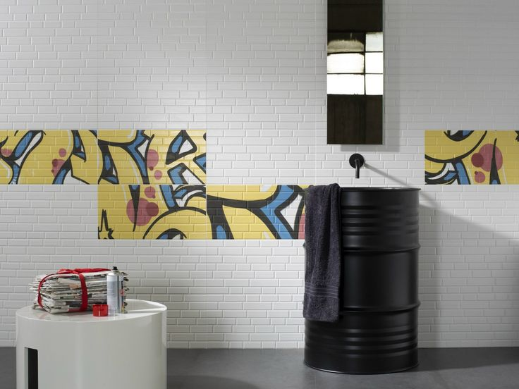 Double-fired ceramic wall tiles MASH-UP by Cooperativa Ceramica d'Imola