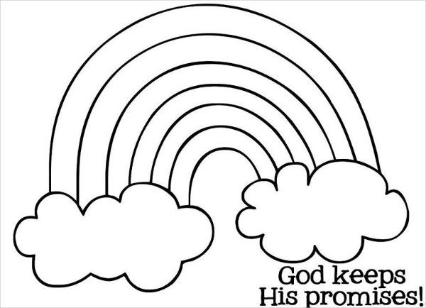 9 Rainbow Coloring Pages Sunday School Coloring Pages Rainbow