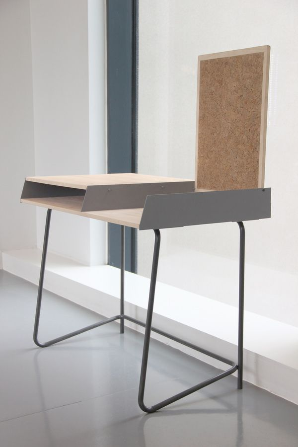 Love this fantastic take on the classic 1960s school desk with a flip top pinboard