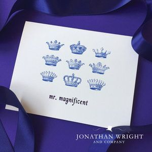 """""""Mr. Magnificent"""" greeting card by Jonathan Wright and Company. Men's Birthday Card."""