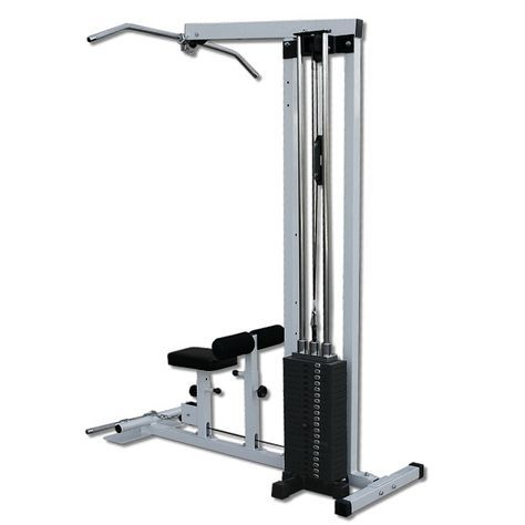 lat machine with 200lb weight stackdeltech fitness in