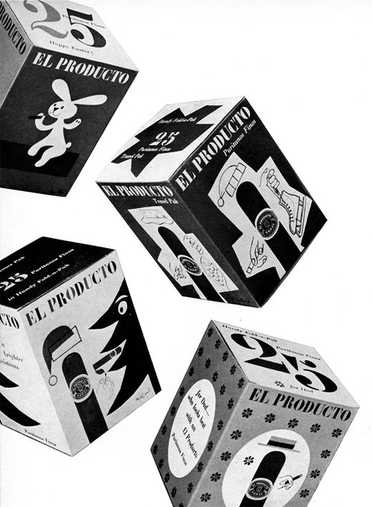 El Producto cigar packaging. Paul Rand.