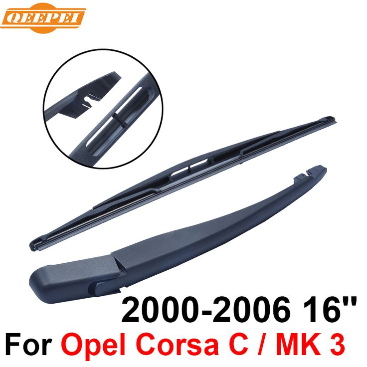 QEEPEI Rear Windscreen Wiper and Arm For Opel Corsa C / MK 3 2000-2006 16'' 3/5 door Hatchback High Quality Natural Rubber #Affiliate