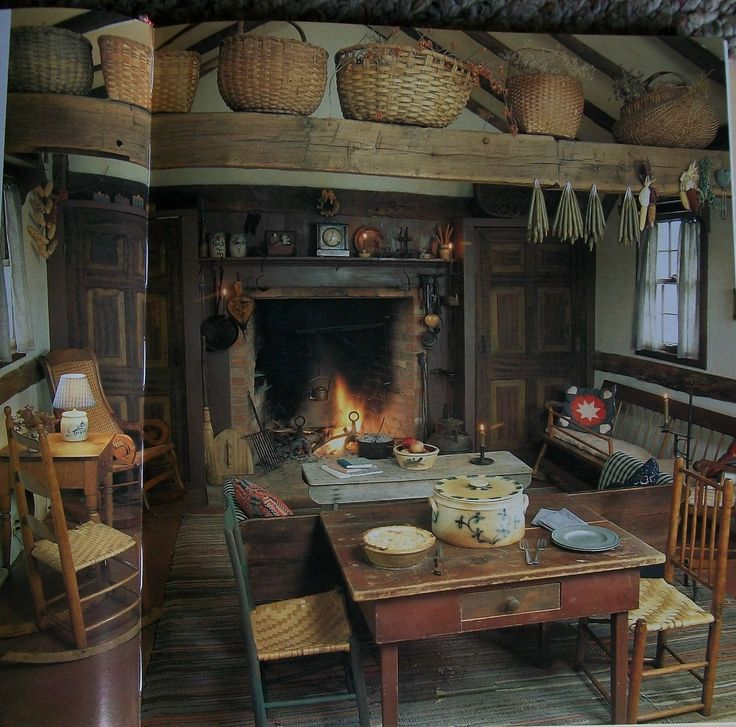 Early Old Primitive Country Living Decorating Book Heirloom from The Past | eBay