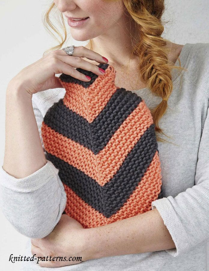 Hot water bottle cover knitting pattern free