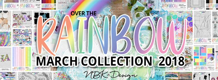 Digital scrapbooking Artwork by NBK-Design Over the Rainbow – the new NBK-Design Collection