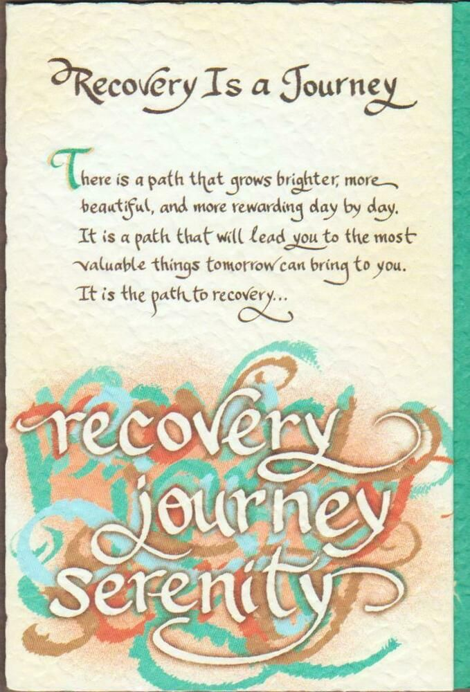 Blue Mountain Arts Greeting Card Recovery Is A Journey Ebay In 2021 Mountain Art Cards Greeting Cards