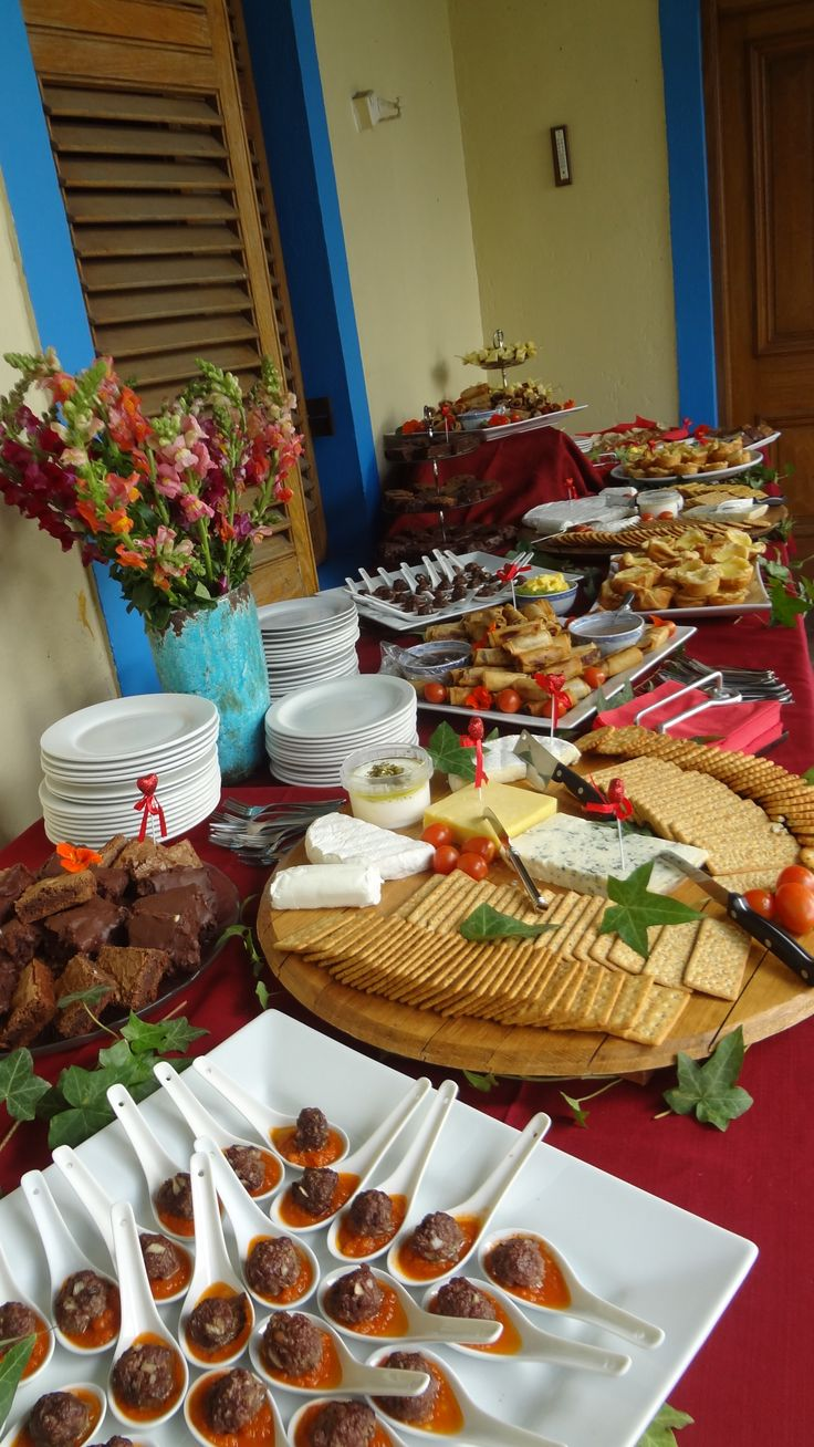 What a spread of food
