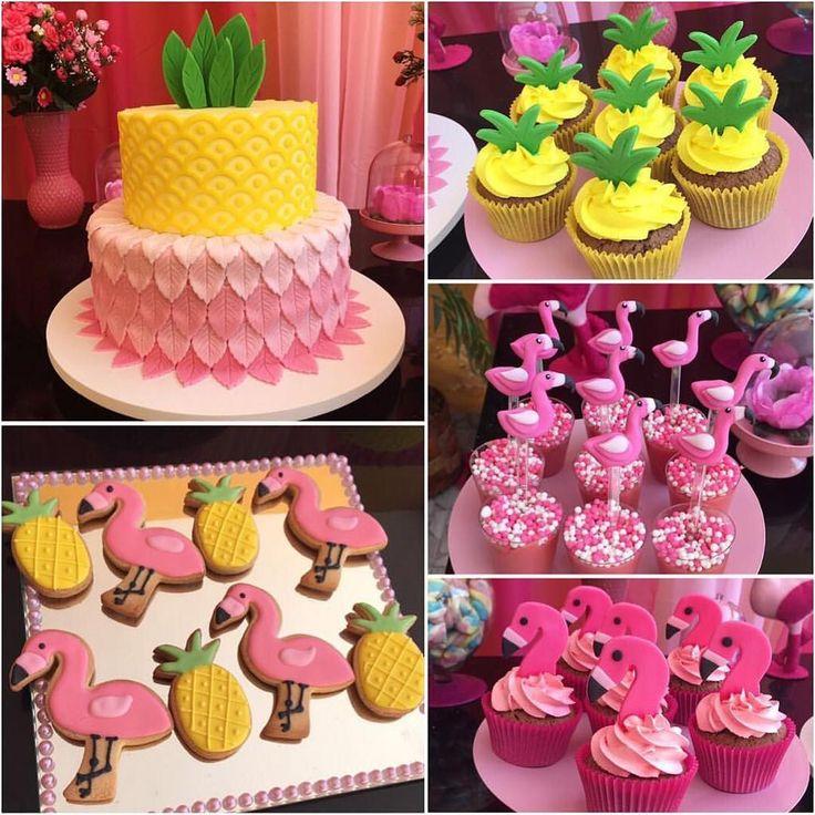 Flamingo e abacaxi pra todos os lados! Regran @almeidapati #srafesta #flamingo #abacaxi