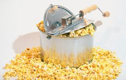 Made quick and easy popcorn with Whirley Pop Popcorn Popper! This six quart ultimate stovetop popcorn machine is perfect for flavorful, delicious popcorn using minimal oil! #popcorn #party Available now at Snow's! https://www.snowshomeandgarden.com/products/whirley-pop-popcorn-popper-12844.html