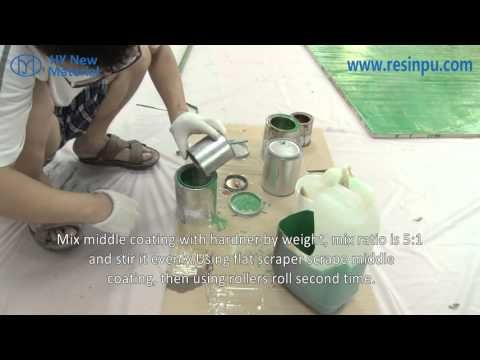 How to use 3D epoxy floor paint? - YouTube