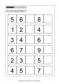 ontbrekende getallen 031